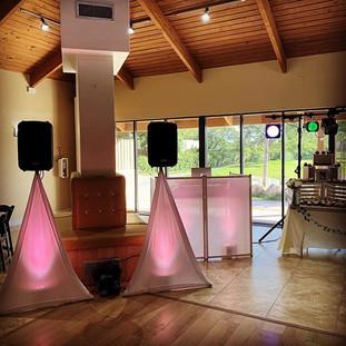 Wedding shower setup for tonight. #djral
