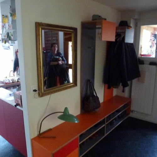 Garderobe Sperrholz farbig