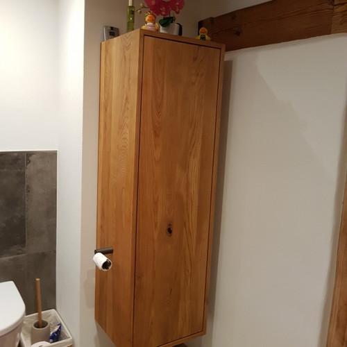 Badzimmerschrank Eiche rustikal
