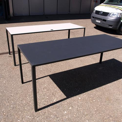 Linotisch mit Metall-Untergestell