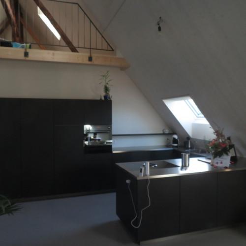 Küche Lino schwarz, Abdeckung Keramik