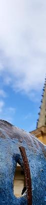 Impression végétale, détail avec le clocher de Martres-Tolosane.