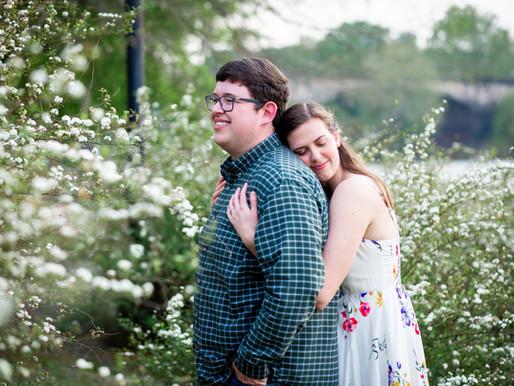 Stephen and Abigail's Columbus Riverwalk Engagement