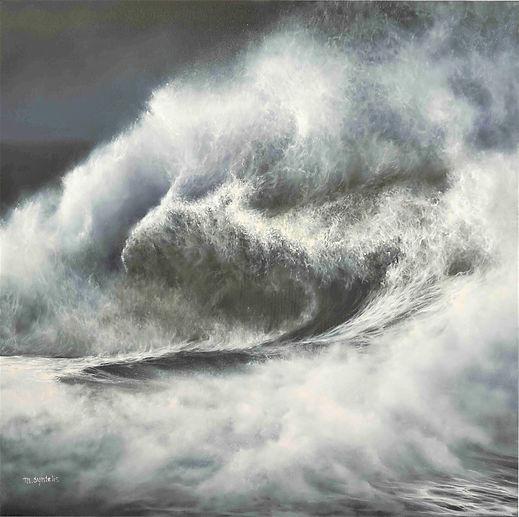 TRITON Wave Oil Painting by Fine Artist Marina Syntelis