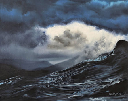 Nafplion Seascape Oil Painting by Marina