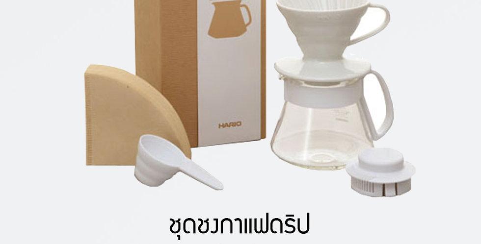 HARIO V60 Colour Dripper & Pot White