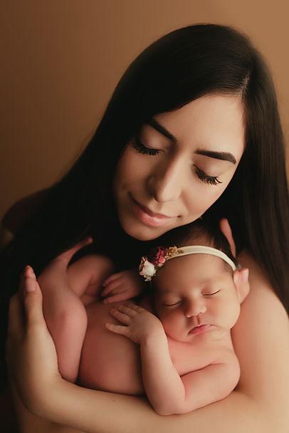 studio newborn photo shoot