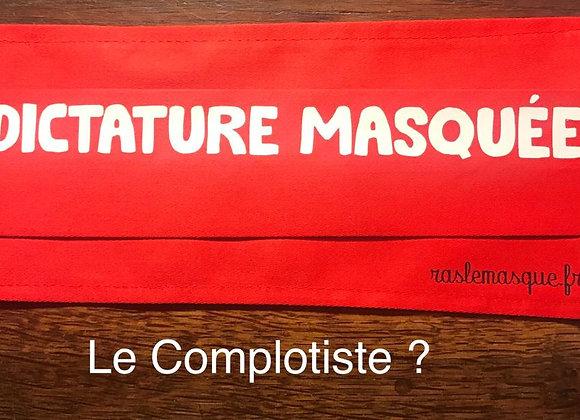 Masque DICTATURE MASQUEE Rouge