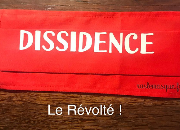 Masque DISSIDENCE Rouge