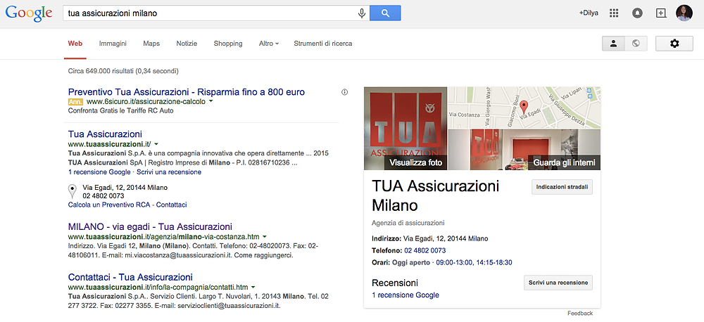 TUA Assicurazioni Milano
