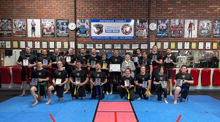Krav Maga group photo November 2021 - 10th Anniversary award.jpeg