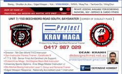 Defensive Kombat Krav Maga Business Card