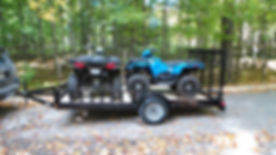 Rent a double trailer with your ATV