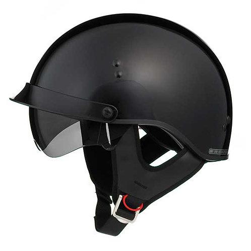 GMAX GM65 Fully Dressed Half Helmet Gloss Black