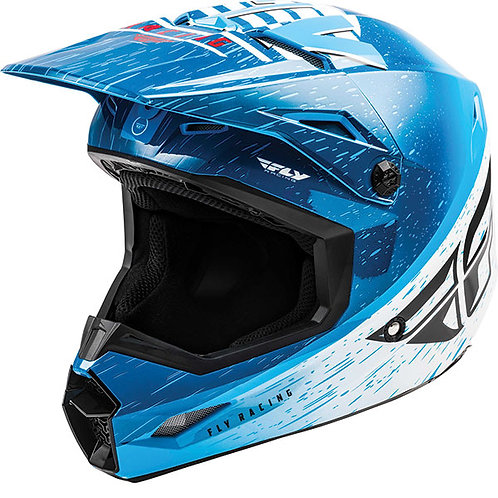 Fly Kinetic K120 Blue & White Helmet