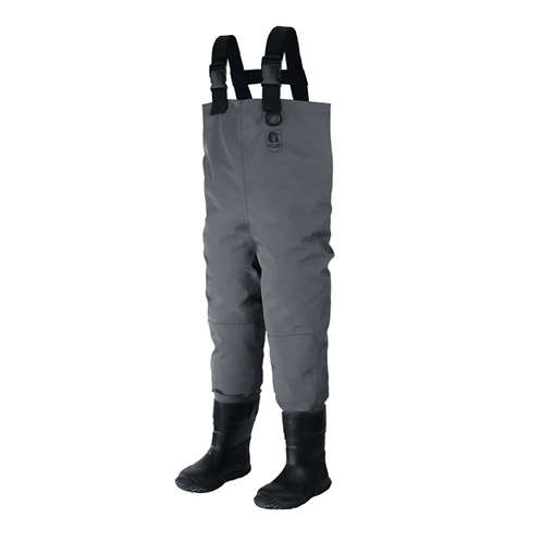 Youth Series Gator Waders - Breathable Waders- Grey