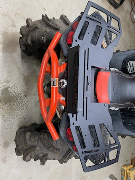 Far Mudding CanAm Out/Rene Rear Cooler Rack W Dry Box