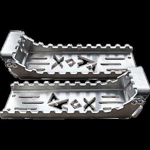 "Rox ATV Foot Pegs 8"" X 3"" Bolt On"