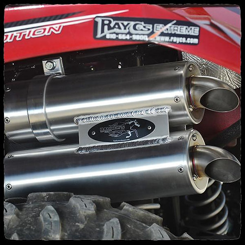 BARKER'S YAMAHA GRIZZLY/KODIAK 700 DUAL EXHAUST SYSTEM FOR 2016+ MODELS