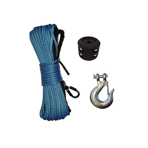 Synthetic Winch Rope Kit: Rope/Hook/Stopper