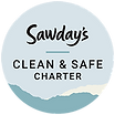 Sawdays Clean and Safe charter badge sma