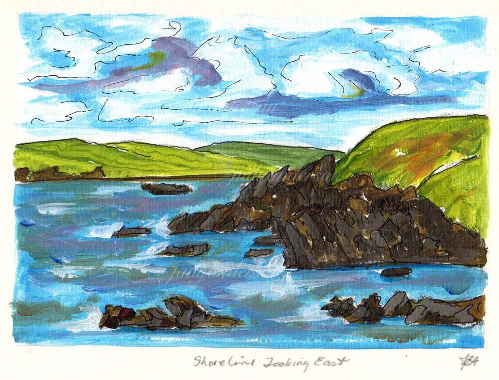 Shoreline Looking East, Shetland
