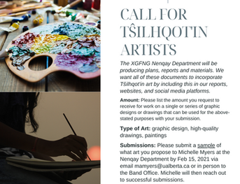 Call for Tŝilhqot'in Artists