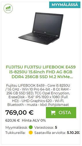 Fujitsu Lifebook E495 kannettava tietokone