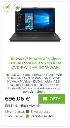 HP 250 G7 kannettava tietokone