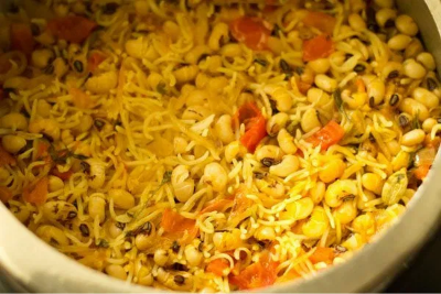 Instant Pot Black Eyed Peas Pulao           with Brown Rice