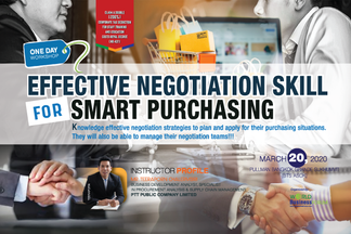EFFECTIVE NEGOTIATION SKILL FOR SMART PURCHASING 1 DAY WORKSHOP