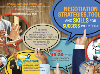 NEGOTIATION STRATEGIES, TOOLS AND SKILLS FOR SUCCESS WORKSHOP
