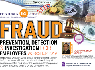 FRAUD PREVENTION, DETECTION AND INVESTIGATION FOR EMPLOYEES WORKSHOP 2019