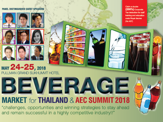 BEVERAGE MARKET FOR THAILAND & AEC SUMMIT 2018