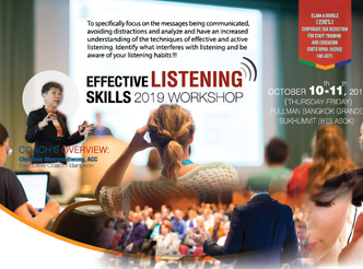 EFFECTIVE LISTENING SKILLS 2019 WORKSHOP