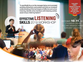 EFFECTIVE LISTENING SKILLS 2019 WORKSHOP