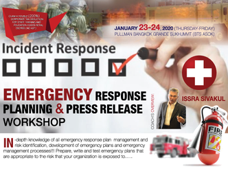 EMERGENCY RESPONSE PLANNING AND PRESS RELEASE WORKSHOP