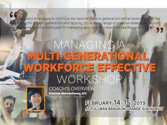 MANAGING A MULTI-GENERATIONAL WORKFORCE EFFECTIVE WORKSHOP