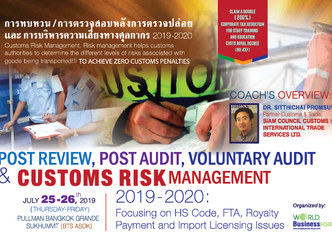 POST REVIEW, POST AUDIT, VOLUNTARY AUDIT & CUSTOMS RISK MANAGEMENT 2019-2020: FOCUSING ON HS COD