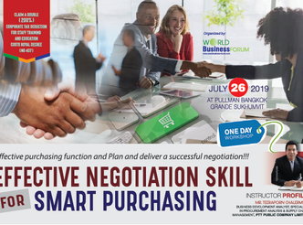 EFFECTIVE NEGOTIATION SKILL FOR SMART PURCHASING  (1 DAY WORKSHOP)