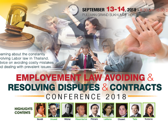 EMPLOYMENT LAW AVOIDING & RESOLVING DISPUTES & CONTRACTS CONFERENCE 2018