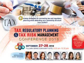 TAX, REGULATORY PLANNING AND TAX RISK MANAGEMENT CONFERENCE 2018