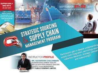 STRATEGIC SOURCING & SUPPLY CHAIN MANAGEMENT PROGRAM