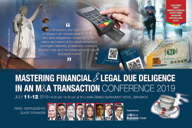 Mastering Financial & Legal Due Diligence in an M&A Transaction Conference 2019