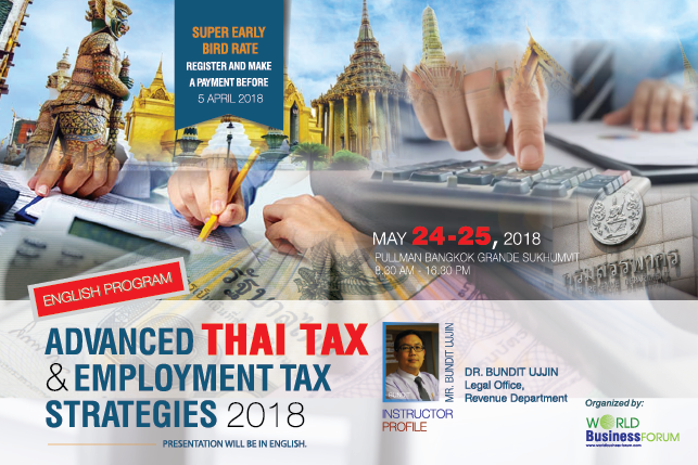 Advanced Thai Tax & Employment Tax Strategies 2018