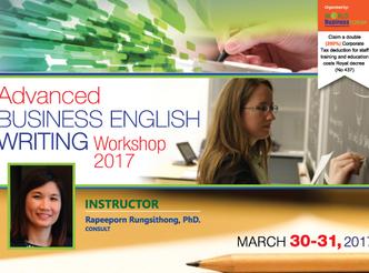 ADVANCED BUSINESS ENGLISH WRITING WORKSHOP 2017