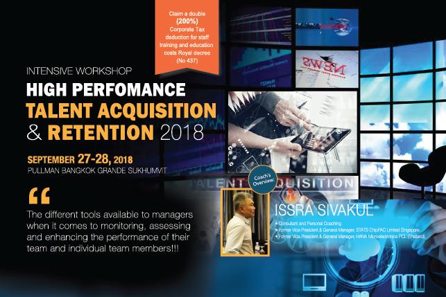 Intensive Workshop - High Performance Talent Acquisition & Retention 2018