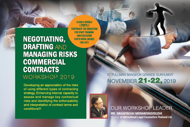 Negotiating, Drafting and Managing Risks Commercial Contracts 2019