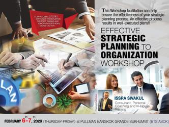 EFFECTIVE STRATEGIC PLANNING TO ORGANIZATION WORKSHOP