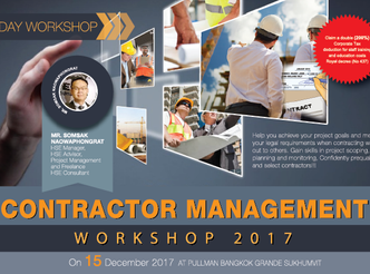 CONTRACTOR MANAGEMENT WORKSHOP 2017